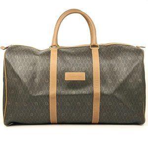 Auth Dior Travel Bag Brown #840O10